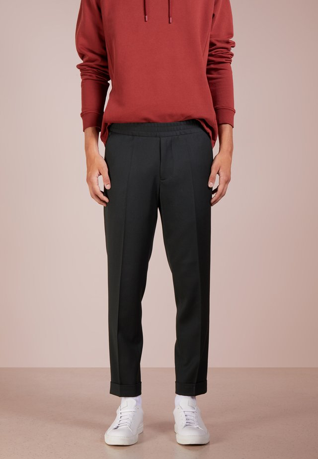 TERRY CROPPED PANTS - Trousers - dark spruce