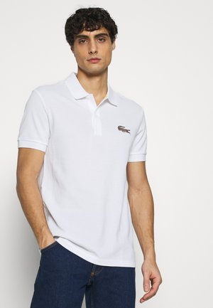 LACOSTE X NATIONAL GEOGRAPHIC - Koszulka polo - white/brown