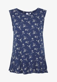 GAP - SLUB PEPLUM - Topper - navy - 4