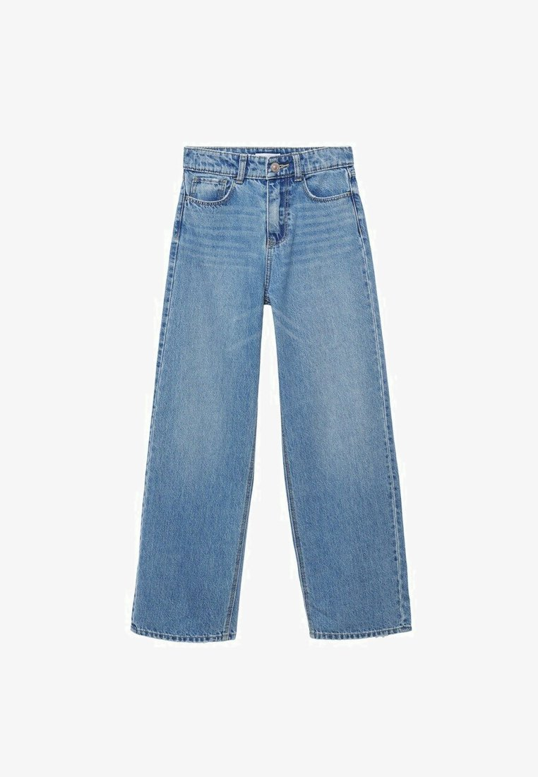 Mango - WIDE  - Flared Jeans - bleu moyen