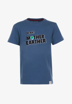 MOTHER EARTHER STYLE - T-shirt med print - blue