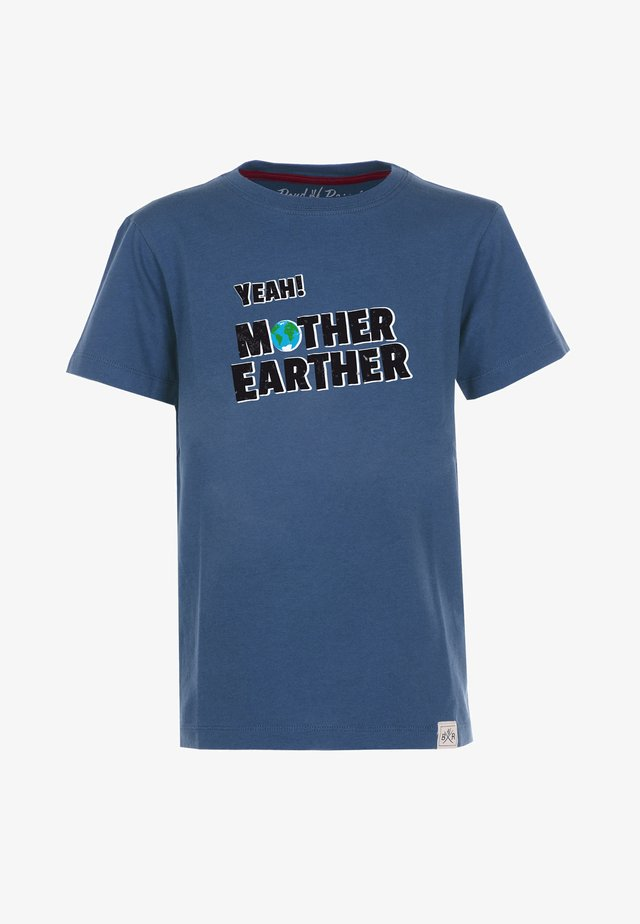 MOTHER EARTHER STYLE - Print T-shirt - blue