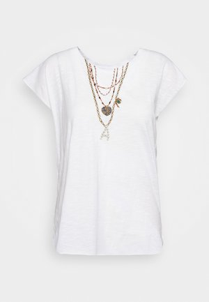 TOVOU PEARL - Print T-shirt - white