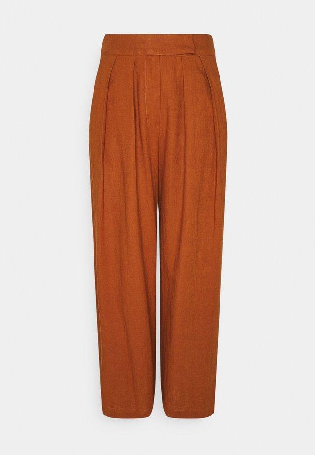 YASCARALA WIDE PANT - Trousers - caramel cafe