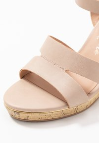 New Look Wide Fit - WIDE FIT POSSUM WEDGE - High heeled sandals - oatmeal - 2