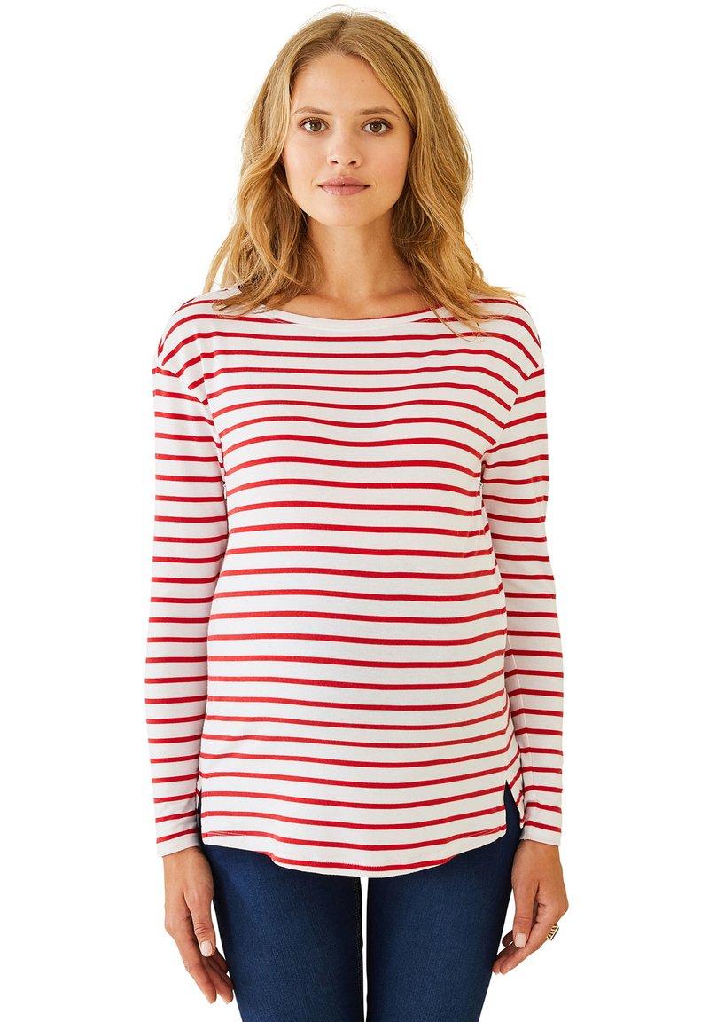 Vertbaudet - Long sleeved top - rot weiß gestreift