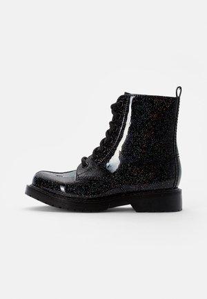 JDEAN - Veterboots - black glitter
