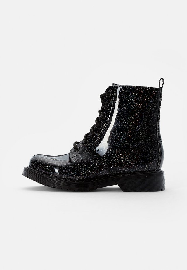 JDEAN - Lace-up ankle boots - black glitter