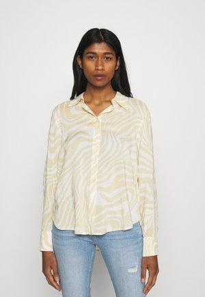 HILMA - Button-down blouse - beige