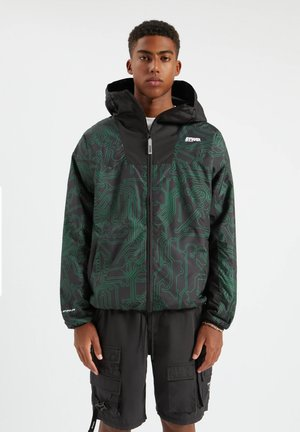 Light jacket - mottled dark green