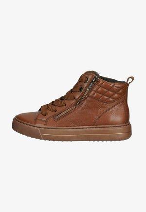 Zapatillas altas - cognac