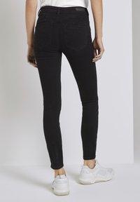 TOM TAILOR DENIM - Jeans Skinny Fit - used dark stone black denim - 1