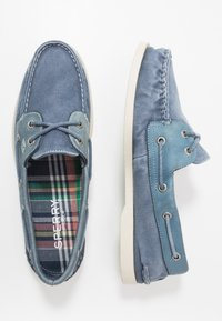 Sperry - 2 EYE - Boat shoes - navy - 1