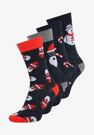 JACFRANK  4 PACK - Socks - navy blazer