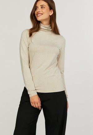 Long sleeved top - camel melange