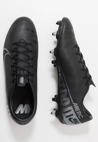 Nike Performance - VAPOR 13 ACADEMY SG-PRO AC - Screw-in stud football boots - black/metallic cool grey/cool grey - 1