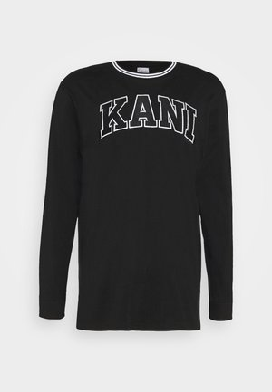 SERIF LONGSLEEVE - Long sleeved top - black