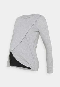 MAMALICIOUS - MLCHRISTIANE IRIS  - Long sleeved top - medium grey melange - 0