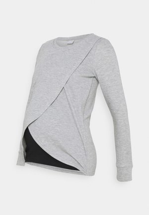 MLCHRISTIANE IRIS  - Long sleeved top - medium grey melange