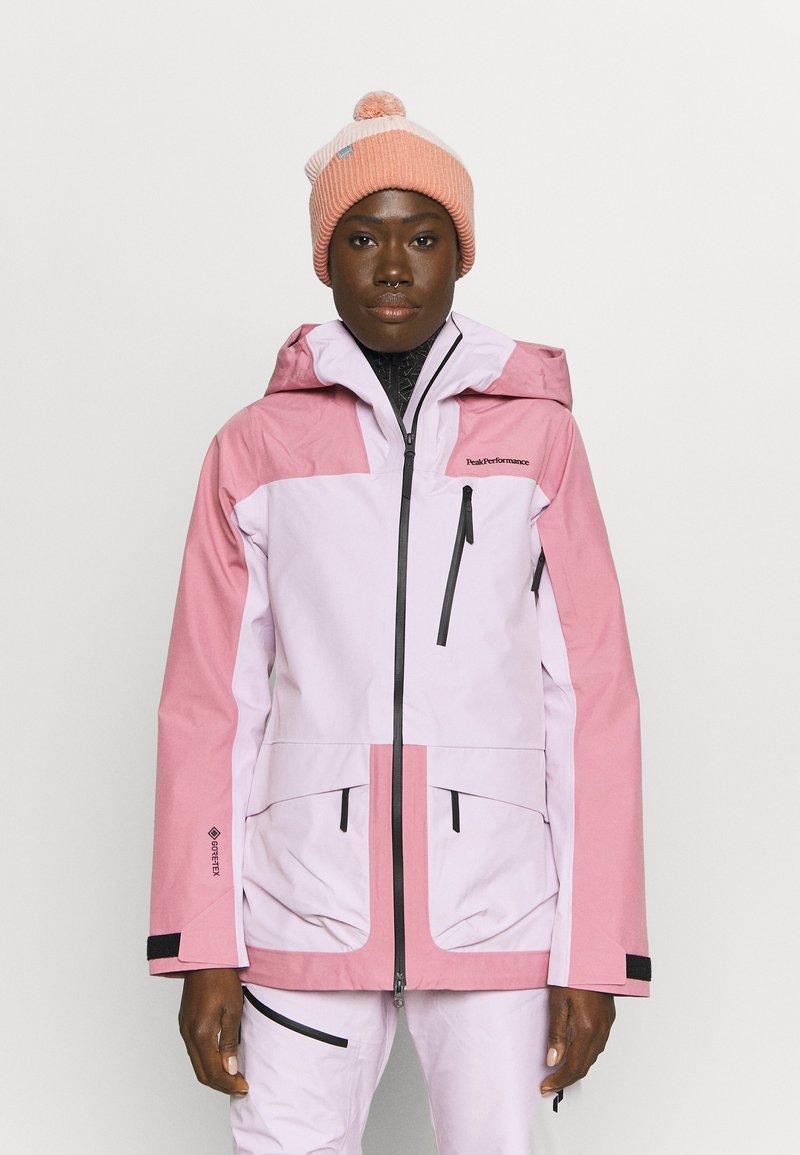 Peak Performance - VERTICAL 3L JACKET - Ski jacket - frosty rose