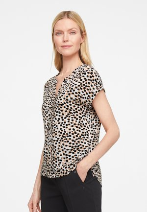 MIT ALLOVER-PRINT - Blouse - offwhite leo dots