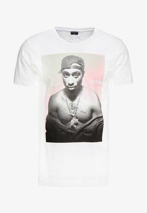 TUPAC AFTERGLOW TEE - Print T-shirt - white