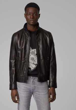 JOLES - Leather jacket - black