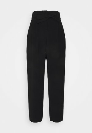 RAPHAELA PANTALONE SABLE FLUIDO - Trousers - black