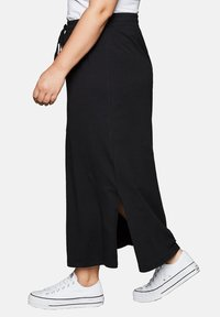 Sheego - Maxi skirt - black - 2