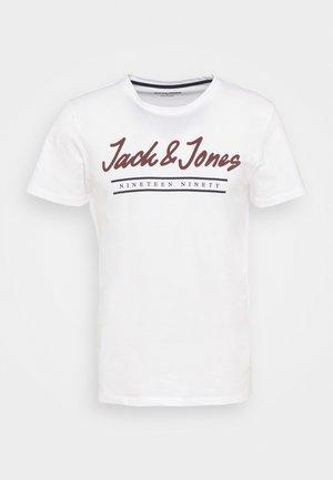 JJHERRO TEE CREW NECK - Triko spotiskem - bright white