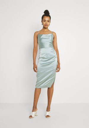LAURA COWL RUCHED MIDI DRESS - Cocktail dress / Party dress - sage green