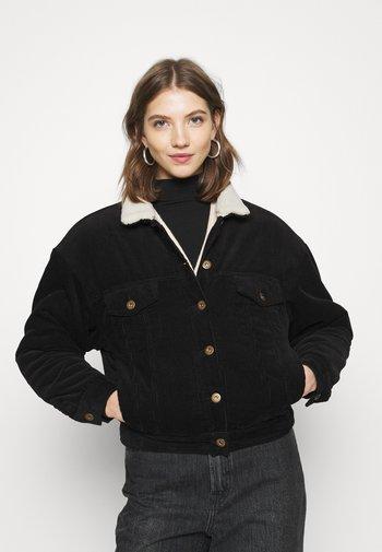 SHEARLING TRUCKER - Light jacket - black