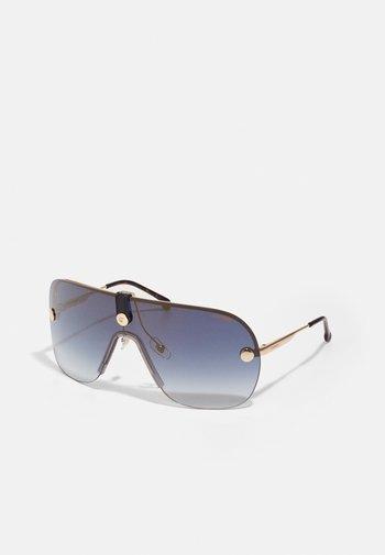 UNISEX - Sunglasses - gold/blue