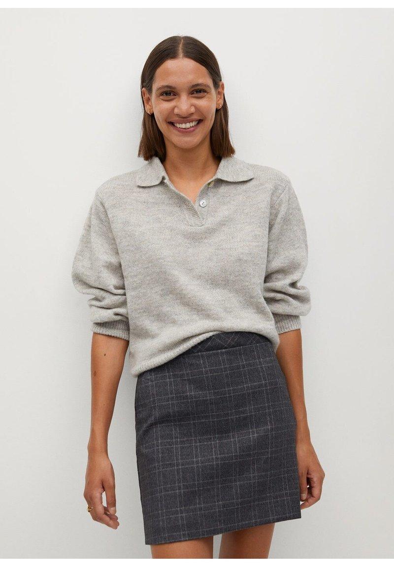 Mango - CHARLOTT - Mini skirt - šedá