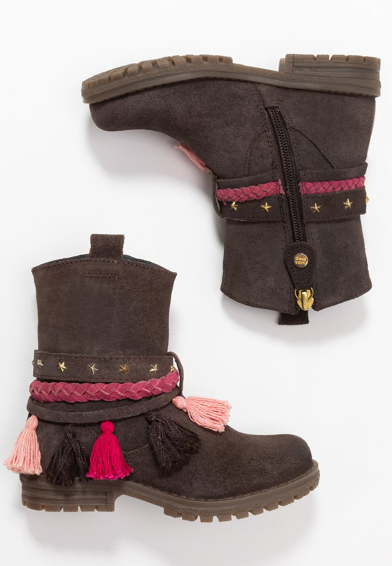 Gioseppo - Cowboy/biker ankle boot - chocolate