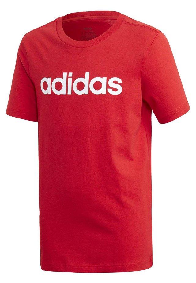 ESSENTIALS LINEAR LOGO T-SHIRT - T-shirt imprimé - red
