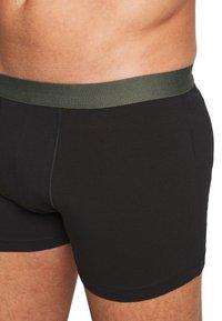 Pier One - 5 PACK - Pants - black/khaki - 6