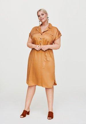Shirt dress - bronze