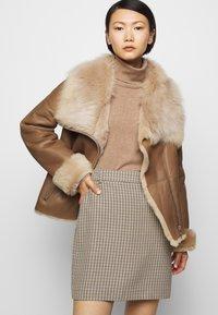 STUDIO ID - PHILIPPA JACKET - Leather jacket - camel/light camel - 3