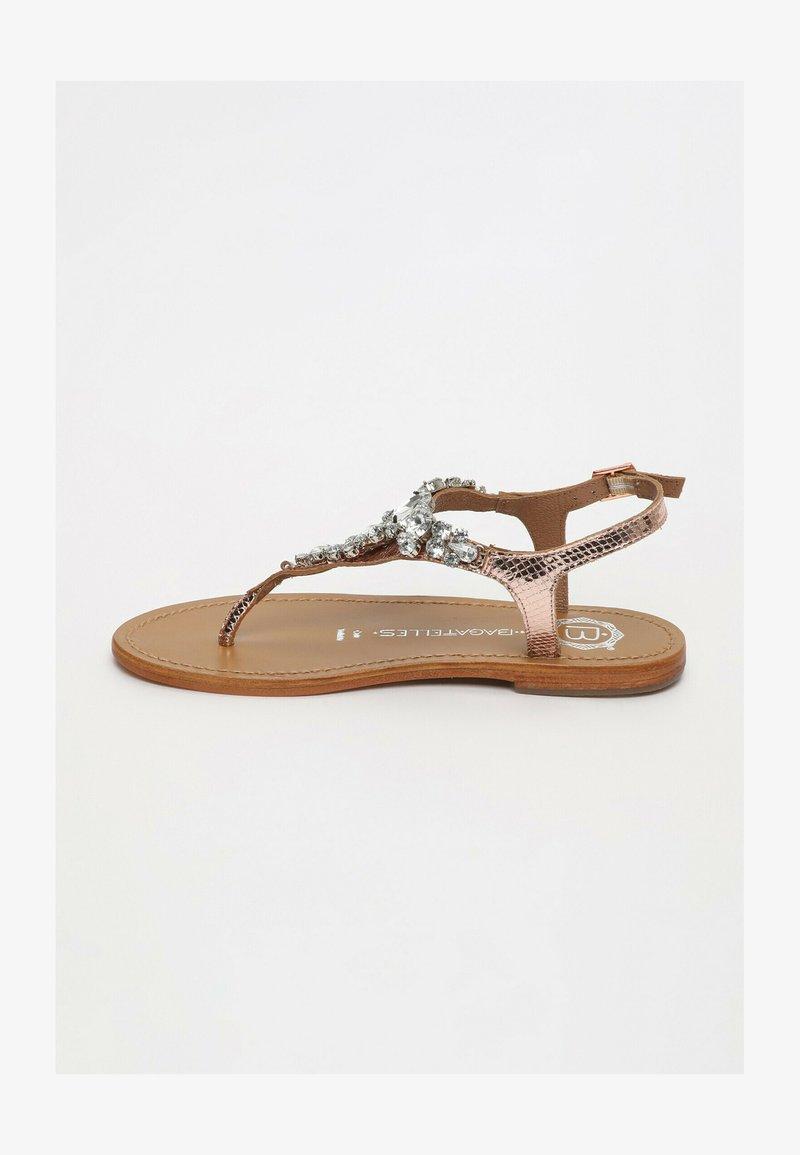 Les Bagatelles - GENIA   - T-bar sandals - rose gold