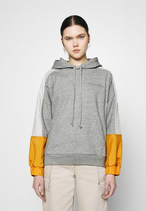 LINEAR LOGO HOODIE - Hoodie - gold coast/tofu/heather grey