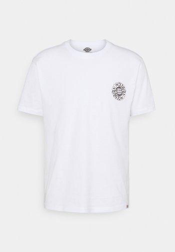 GLOBE TEE - Printtipaita - white