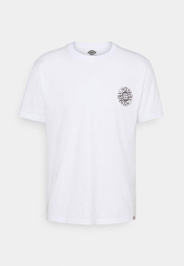 GLOBE TEE - T-shirt print - white