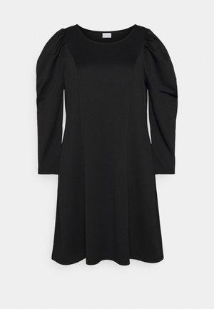 VIMALOUA PUFF DRESS - Žerzejové šaty - black