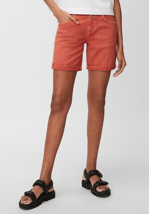 Denim shorts - burnt orange