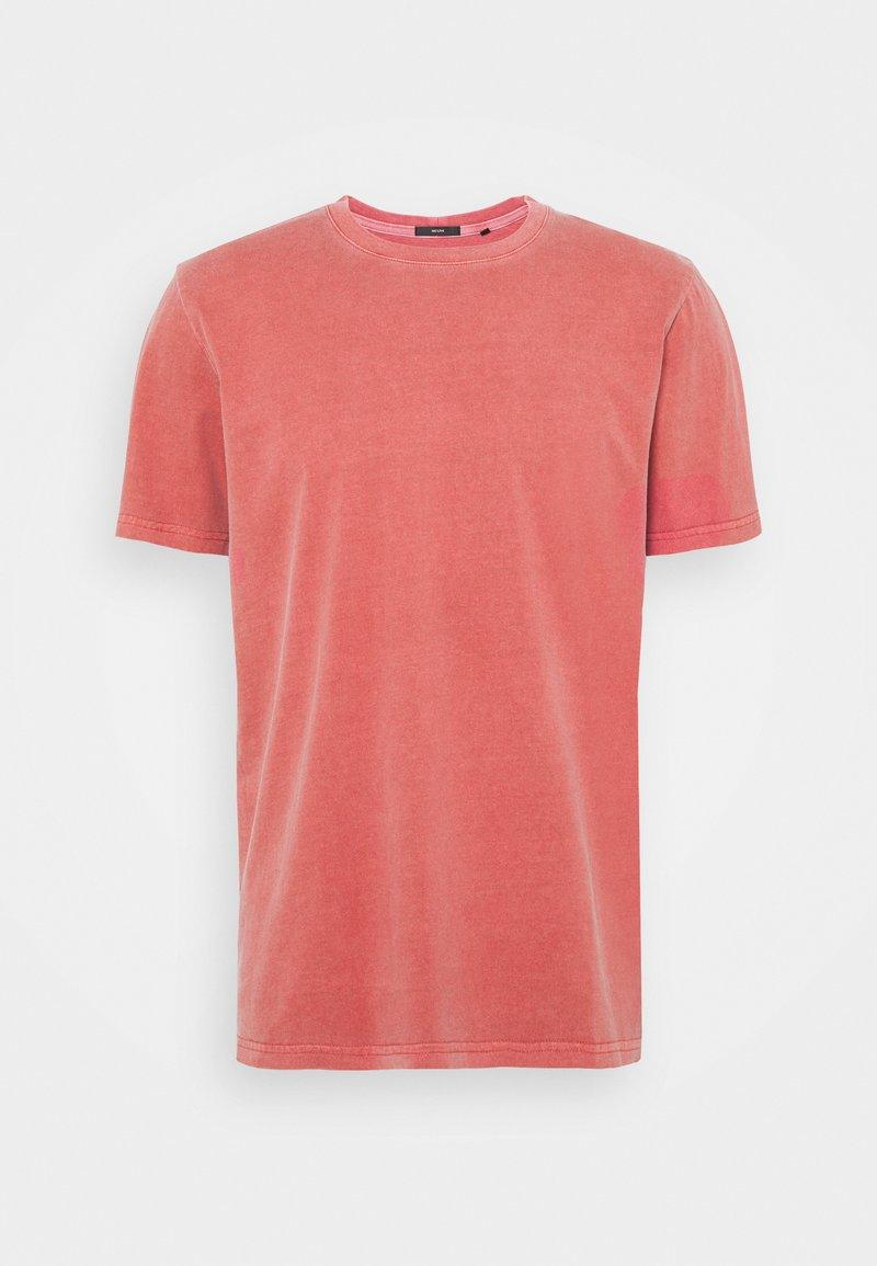 Neuw - BAND TEE - Jednoduché triko - burnt red