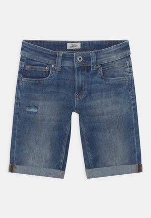 TRACKER - Denim shorts - blue denim