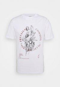 Common Kollectiv - PREVAIL UNISEX - Print T-shirt - white - 0