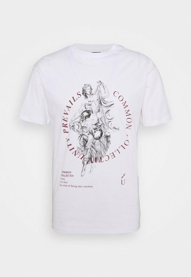 PREVAIL UNISEX - Print T-shirt - white