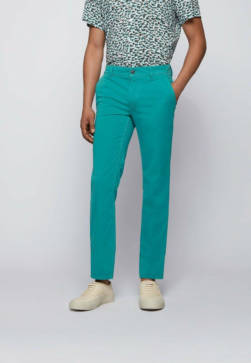 BOSS - SCHINO - Chinos - turquoise